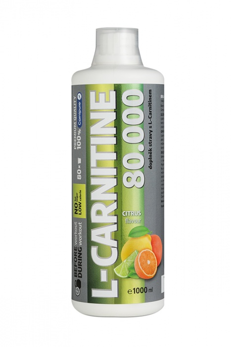 WELLNESS FOOD L-CARNITINE 80000 liquid 1litr citrus - karnitin