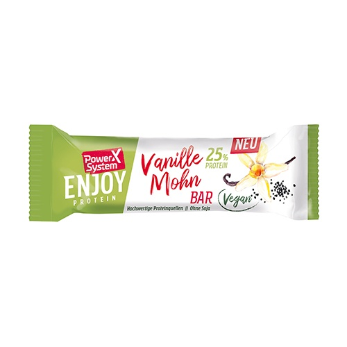 PS ENJOY 25% PROTEIN VEGAN BAR 45g vanilka-mák